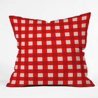 Deny Designs Holli Zollinger Red Gingham Throw Pillow