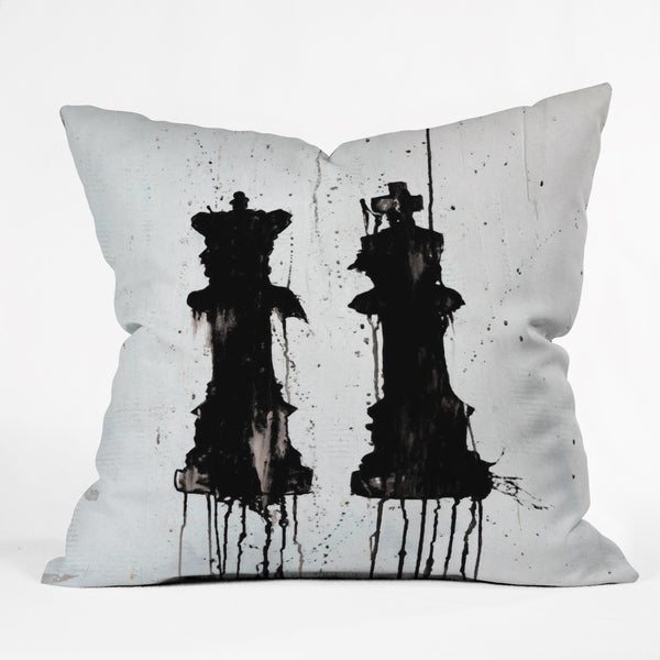 Deny Designs Kent Youngstrom Polyester Fill/Synthetic Cover Check Mates Throw Pillow - 3 Sizes Available
