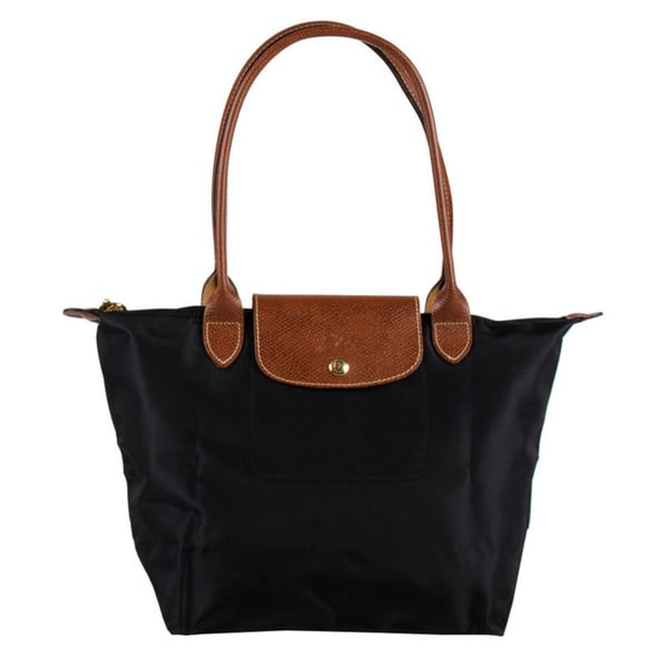 Shop Longchamp Le Pliage Small Black Nylon Foldable Shoulder Tote ... 080248b8f88d0