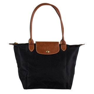 Longchamp Le Pliage Small Black Nylon Foldable Shoulder Tote Bag