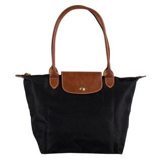 Longchamp Le Pliage Small Black Nylon Foldable Shoulder Tote Bag