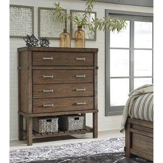 Signature Design by Ashley Leystone Dark Brown Four Drawer Chest