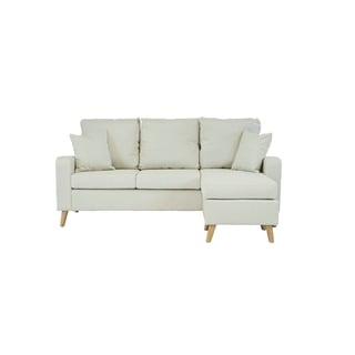 Mid Century Modern Small Space Sectional Sofa With Reversible Chase