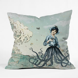 DENY Designs Belle13 Sea Fairy Throw Pillow