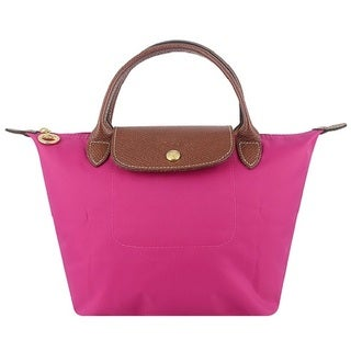Longchamp Le Pliage Cyclamen/Pink Small Foldable Shoulder Tote Bag