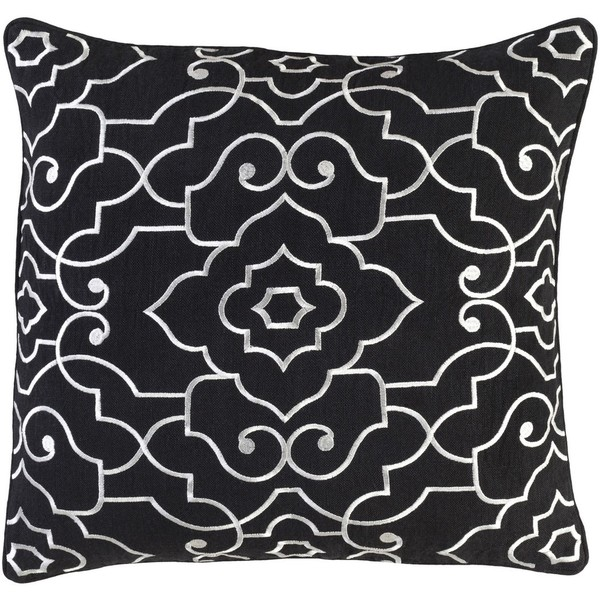 Decorative Perpignan 18-Inch Feather Down or Poly Filled Pillow