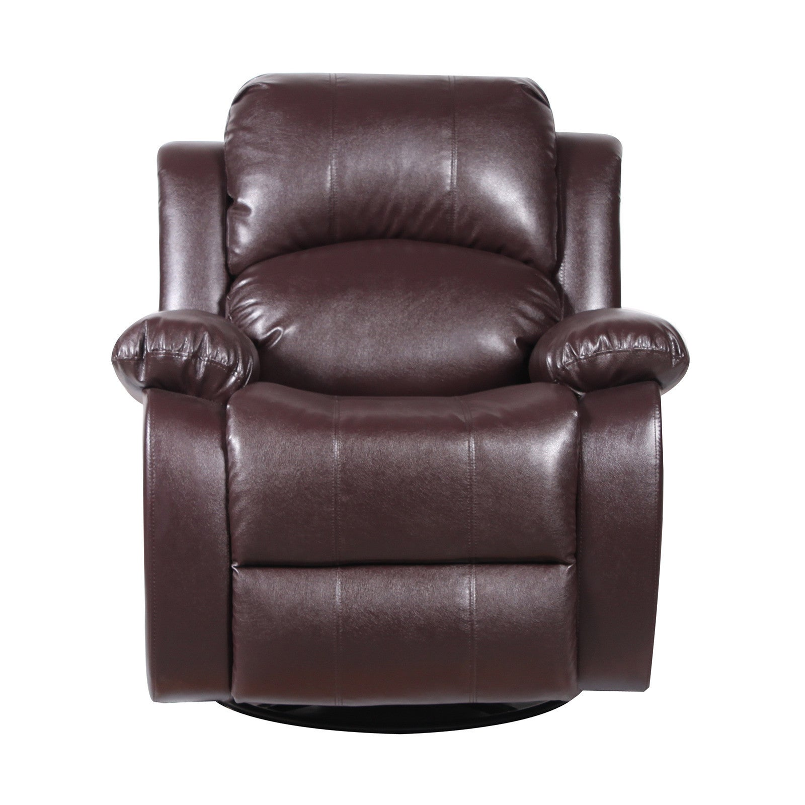 bonded leather rocker and swivel recliner living room chair brown ebay. Black Bedroom Furniture Sets. Home Design Ideas