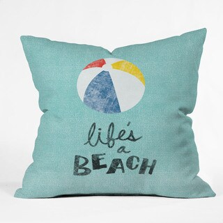 Nick Nelson Life's A Beach Polyester Throw Pillow