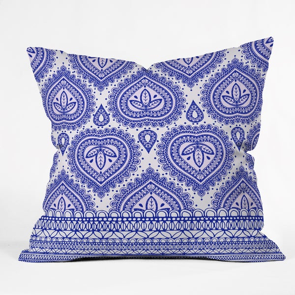 Deny Designs Aimee St Hill Decorative Blue Polyester Throw Pillow in 3 Sizes