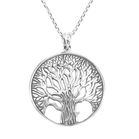 Handmade Magnificent and Inspiring Tree of Life .925 Silver Necklace (Thailand)