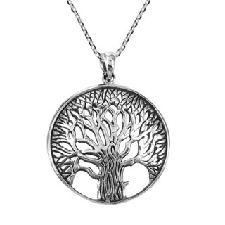 Magnificent and Inspiring Tree of Life .925 Silver Necklace (Thailand)