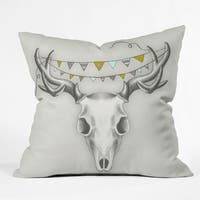 Deny Designs Wesley Animal Skull Throw Pillow