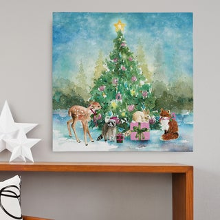 Wexford Home Carol Robinson 'Farmhouse Christmas' Premium Gallery Wrapped Canvas