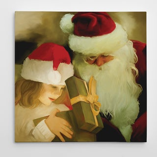 'Reindeer Sleigh' Premium Gallery-wrapped Canvas