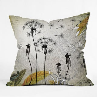 Iveta Abolina Little Dandelion Multicolor Polyester Throw Pillow