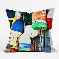 Barbara Sherman Down East Multicolor Polyester Throw Pillow