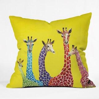 Clara Nilles Jellybean Giraffes Polyester Throw Pillow