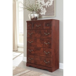 Signature Design by Ashley Delianna Reddish Brown Five Drawer Chest