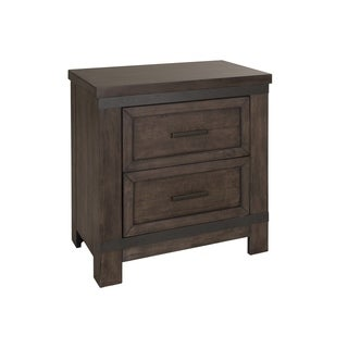 Thornwood Hills Rock Beaten Gray 2-Drawer Nightstand