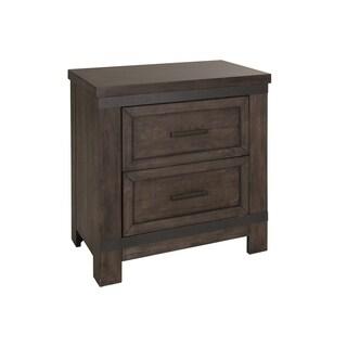 thornwood hills rock beaten gray 2drawer nightstand