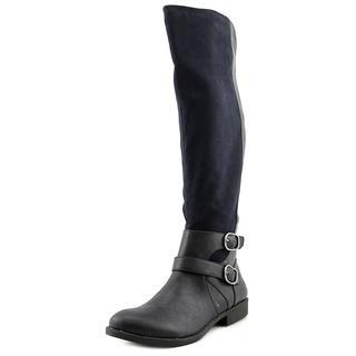Nine West Women's Woodsie 3Y Blue Fabric Boots