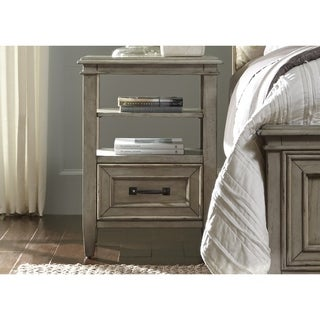Grayton Grove Driftwood 1-Drawer Nightstand