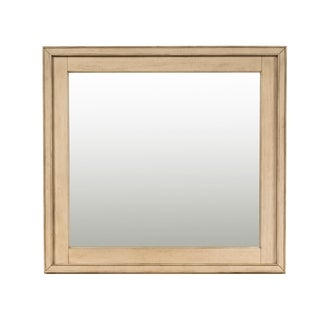 Grayton Grove Driftwood Framed Mirror - almond