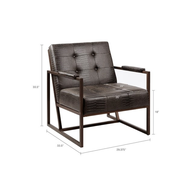 Strick & Bolton Normani Chocolate Lounge Chair