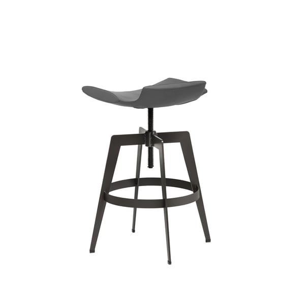 Sunpan Bancroft Graphite Faux Leather Adjustable Barstool