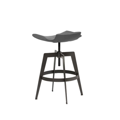 Sunpan Bancroft Graphite Faux Leather Adjustable Barstool