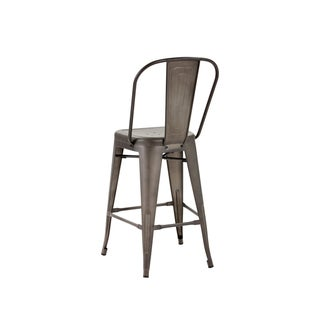 "Sunpan Urban Unity Armour Grey Steel 26"" Counter-height Stool"