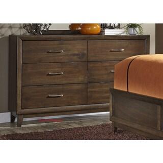 Hudson Square Espresso 6-Drawer Dresser