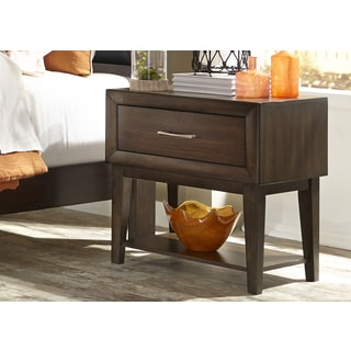 Hudson Square Espresso 1-Drawer Nightstand