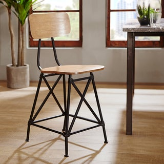 INK+IVY Cooper Natural Dinning Counter Stool