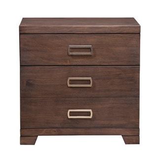 Alpine Savannah Brown Wood 2-drawer Nightstand