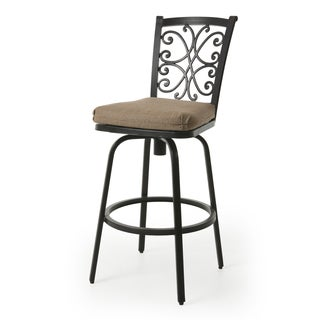 Chanmi Brown Aluminum/Poly Synthetic Fiber 26-inch Counter Stool