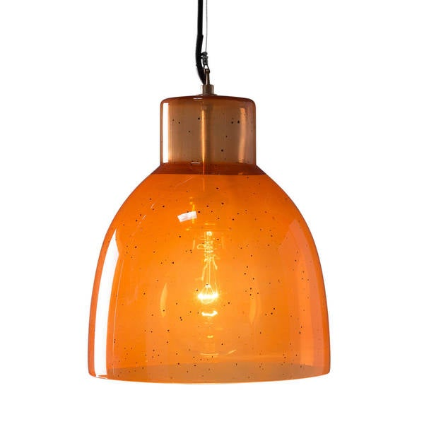 "CG Sparks Handmade Glass Monson Persimmon 12"" Dia. Pendant Light (India)"