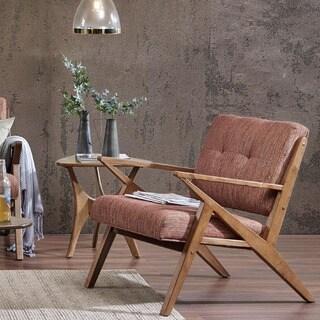 INK+IVY Rocket Orange Chair Lounge