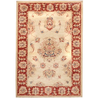 Herat Oriental Afghan Hand-knotted Vegetable Dye Oushak Wool Rug (2'7 x 3'9)