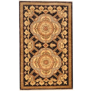 Herat Oriental Afghan Hand-knotted Vegetable Dye Oushak Wool Rug (2'8 x 4'4)