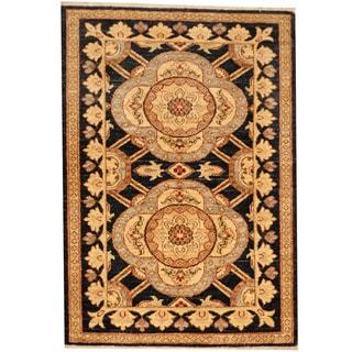 Herat Oriental Afghan Hand-knotted Vegetable Dye Oushak Wool Rug (2'8 x 3'10)