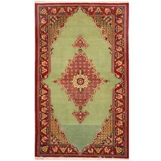 Herat Oriental Persian Hand-knotted Tabriz Wool Rug (2'7 x 4'3)
