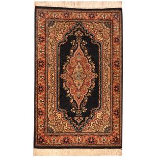 Herat Oriental Pakistani Hand-knotted Tabriz Wool Rug (2'7 x 4'2)