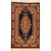 Handmade Herat Oriental Pakistani Tabriz Wool Rug (Pakistan) - 2'7 x 4'2