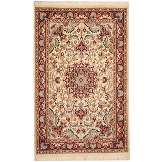 Herat Oriental Pakistani Hand-knotted Tabriz Wool Rug (2'7 x 4')