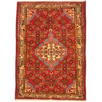 Herat Oriental Persian Hand-knotted Hamadan Wool Rug - 2'10 x 4'