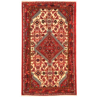 Herat Oriental Persian Hand-knotted Hamadan Wool Rug (2'6 x 4'3)