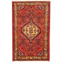 Handmade Herat Oriental Persian Hamadan Wool Rug (Iran) - 2'7 x 4'1