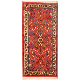 Herat Oriental Persian Hand-knotted Saraouk Wool Rug (2'2 x 4'5)