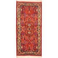 Handmade Herat Oriental Persian Saraouk Wool Rug (Iran) - 2'2 x 4'5